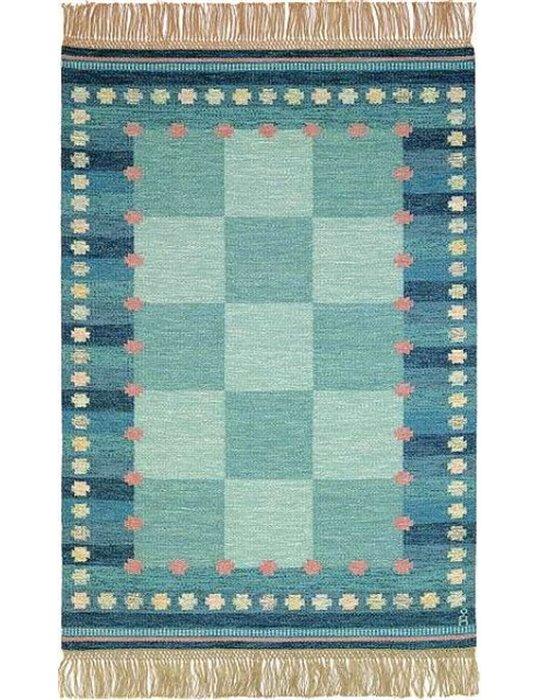 Handknuten Ullmatta Skymning Rödcm Färg: Röd Storlek: 80x250 cm